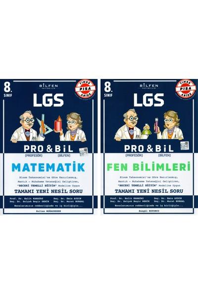 Bilfen 8. Sınıf Pro & Bil Matematik Fen Bilimleri Soru Bankası Seti 2 Kitap