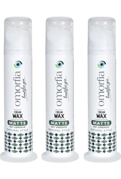 Omorfia Cream Mat - Matte Wax 100 ml Yoğun Mat Pompalı x 3