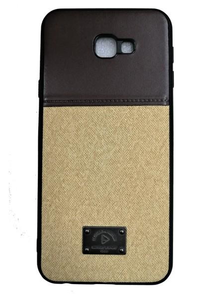 Haskom Samsung Galaxy J4 Plus Suni Deri Silikon Kılıf