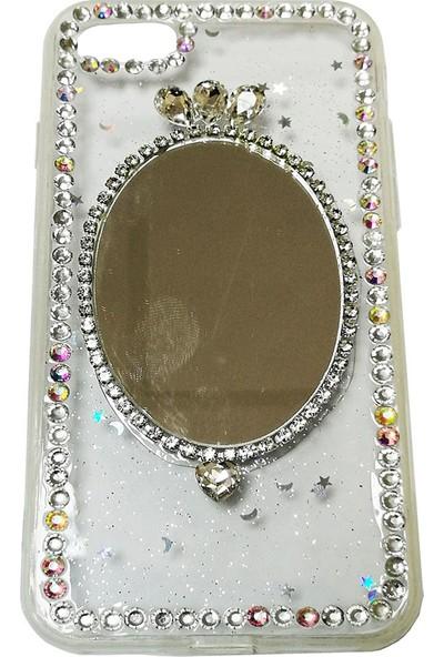 Haskom Apple iPhone 8 Taşlı Aynalı Kılıf