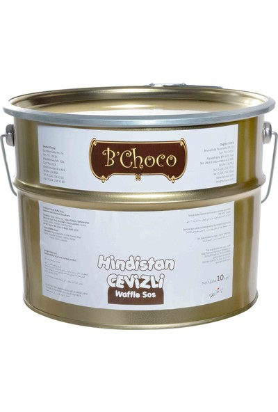 B'Choco Hindistan Cevizli Pralin Çikolata 10 kg