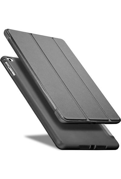 Fujimax ipad 10.2 2019 7.nesil A2197-A2198 Seri Darbe Emici Yumuşak Silikon Smart Kılıf-Siyah