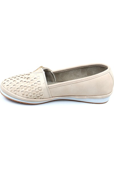 Ayakcity 289 Yazlık Krem Rahat Bayan Günlük Babet Ayakkabı - 37