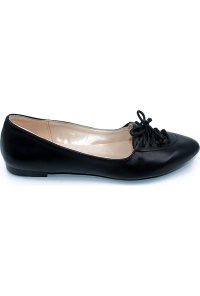 Ayakcity 291 Yeni Sezon Kadın Babet Ayakkabı Siyah - 36