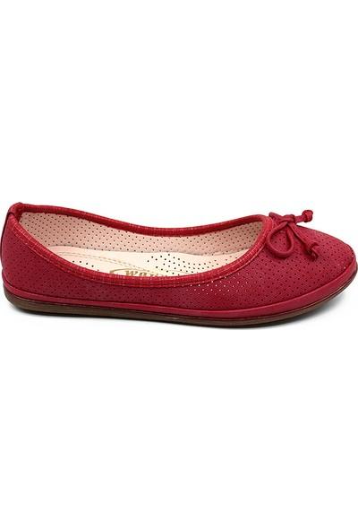 Ayakcity 294 Yeni Sezon Kadın Babet Ayakkabı Kırmızı - 37