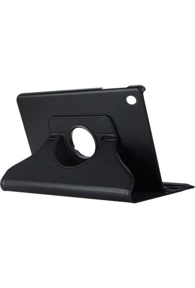 E-Depo Samsung Galaxy Tab S5E 10.5'' T720 360 Stand Deri Kılıf Siyah