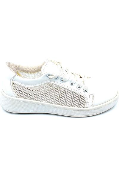 Ayakcity 309 Yan File Sim Detaylı Bayan Spor Ayakkabı Beyaz - 37