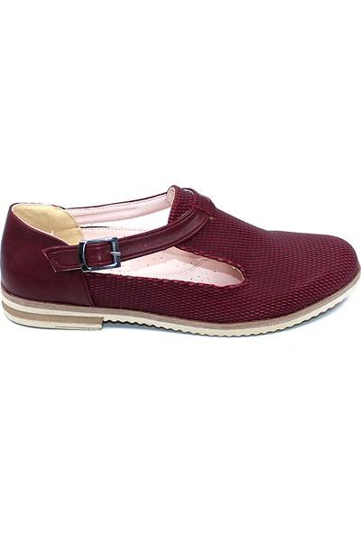 Ayakcity 315 Yazlık Günlük Bayan Babet Ayakkabı Bordo - 36