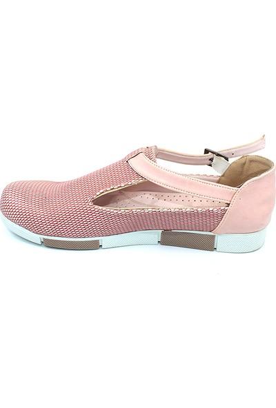 Ayakcity 315 Yazlık Günlük Bayan Babet Ayakkabı Pudra - 38