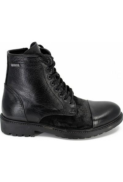 M.P-182-8091 Hakiki Deri Postal Günlük Erkek Bot Ayakkabı - Siyah - 41