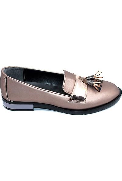 Missmali 307 Fiyonklu Günlük Bayan Babet Ayakkabı Rose - 36