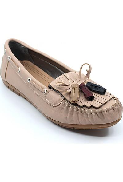 Osaka 304 Kadın Fiyonklu Günlük Ayakkabı Pudra - 37