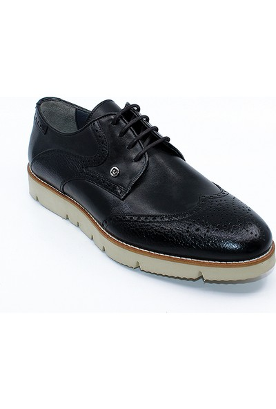 Pierre Cardin 333206 Siyah Hakiki Deri Erkek Ayakkabı - Siyah - 43