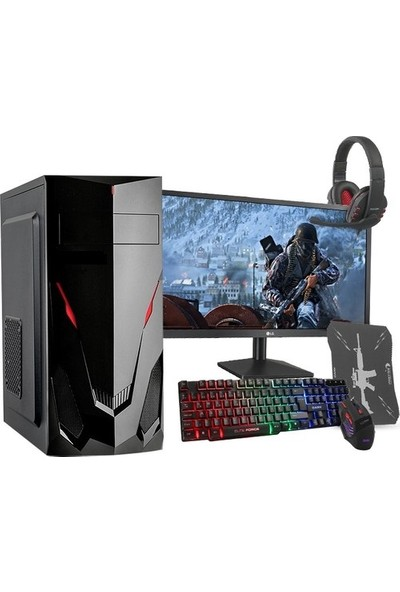 "Teknobiyotik 1600-1M AMD Ryzen 5 1600 8GB 240GB SSD RX570 Freedos 21.5"" Masaüstü Bilgisayar DK-PC-1600-1M"