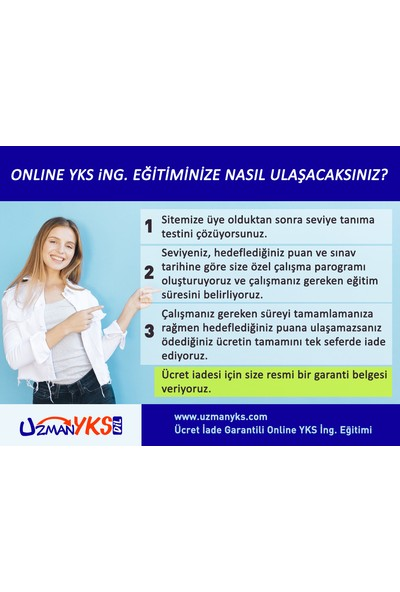 Uzman Uzmanyks - Online Yks Dil Ingilizce Soru Çalışmaları - 3 Aylık