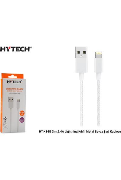 Hytech HY-X345 2.4A Lightning Data ve Şarj Kablosu 3 mt