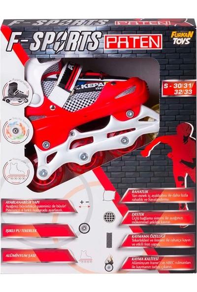 Furkan Toys F-Sports Ayarlanabilir Silikon Teker Paten S 30-33