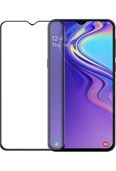 Teleplus Samsung Galaxy M10S Tam Kapatan Cam Ekran Koruyucu Siyah