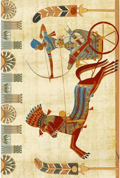 Resmiro Mısır Sanatı Desenli Dijital Baskılı Halı RSP1491