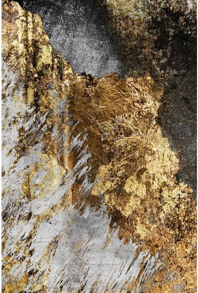 Resmiro Özel Tsarım Altın İşleme Desenli Dijital Baskılı Halı RSP1511