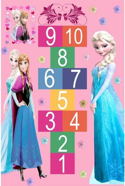 Resmiro Elsa Seksek Oyun Desenli Dijital Baskılı Halı RSP1545