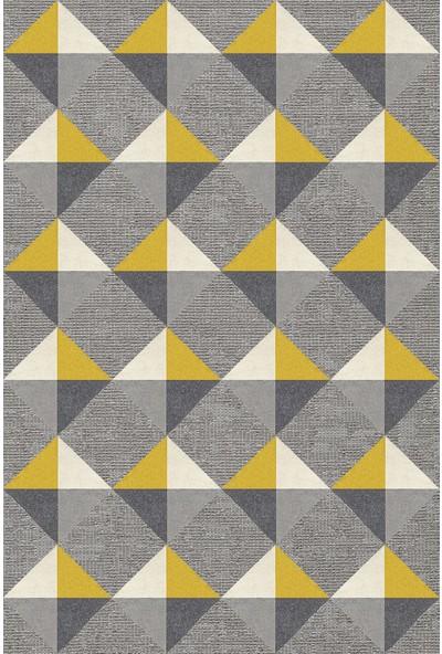 Resmiro Renkli Geometrik Desenli Dijital Baskılı Halı RSP1586