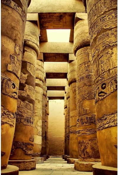 Resmiro Antik Mısır Lahit Desenli Dijital Baskılı Halı