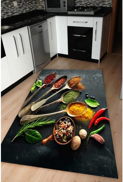 Resmiro Mutfak İçin Özel Baharatlar Dijital Baskılı Halı