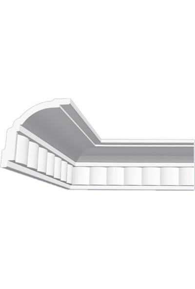 Polsis PLS23 Dalgalı Desenli Beyaz Strafor Kartonpiyer 20 m 10'lu