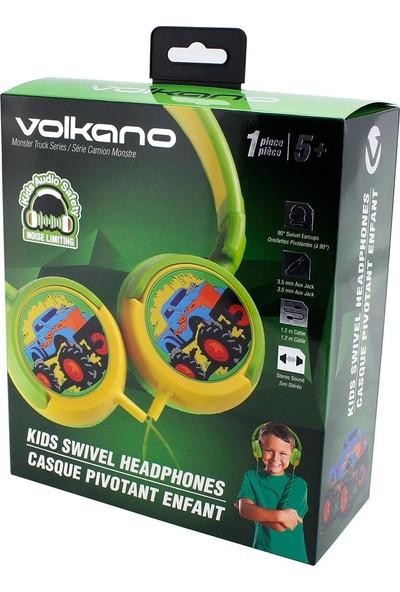 Volkano Monster Truck Kulak Üstü Çocuk Kulaklığı