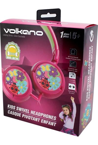 Volkano Uğur Böceği Kulak Üstü Çocuk Kulaklığı