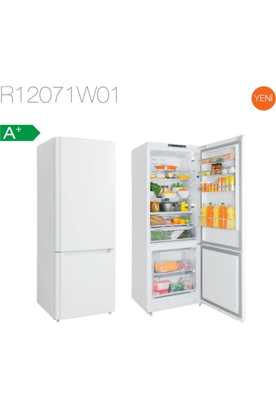 Silverline R12071W01 Beyaz 507 Lt A+ Kombi Tipi Buzdolabı
