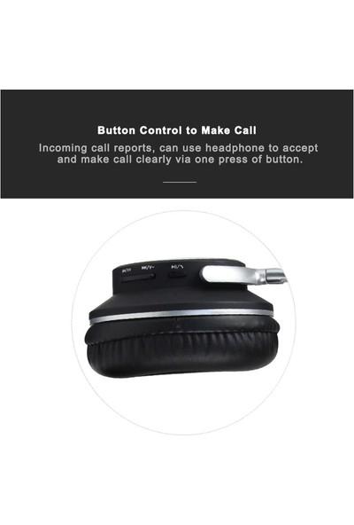 W98BT Kulak Üstü Bluetooth Kablosuz Bass Kulaklık Kırmızı