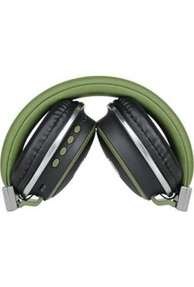 W560BT Kulak Üstü Katlanabilir Bluetooth Kablosuz Bass Kulaklık Lacivert