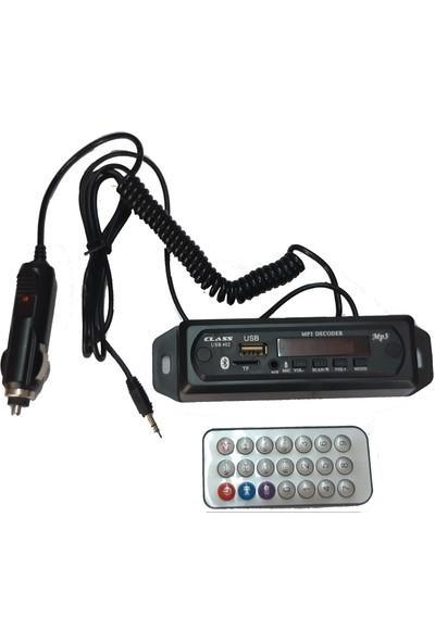 Class Oto Bluetooth Aux Çevirici Modül Konuşma Özellikli Mikrofonu Oto Çakmaklık Tak Çalıştır Ürünü Yeni Özellikli Ürün