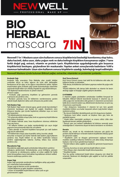 New Well Bio-Herbal Bitkisel Maskara - 7İn1
