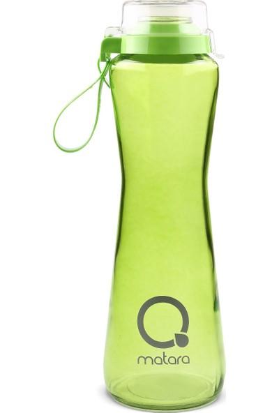 Qmatara Clear Yeşil Cam Matara Suluk 750 Cc