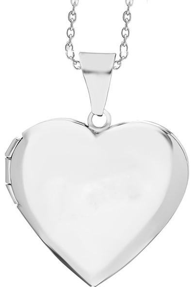 Getss P589 Kalp Kapaklı Model Kadın Çelik Kolye