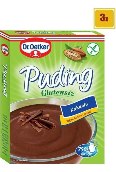 Dr.Oetker Glutensiz Kakaolu Puding 147 gr x 3