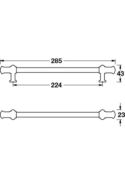 Hafele Bernard Kulp Mat Siyah 160 mm