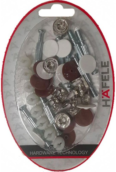Hafele Minifix 5'li Set 8 adet Gövde Mil Kapak Dübel Kavilya