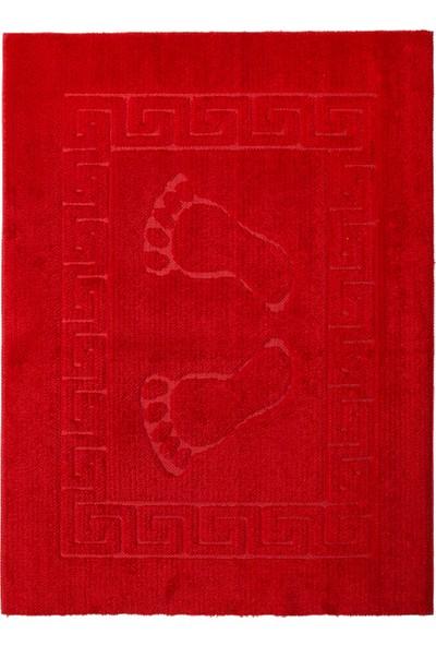Miss Line Welsoft Ayak İzli Kaymaz Paspas 50 x 70 cm P-19 Kirmizi