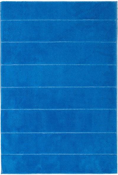 Miss Line Welsoft Çizgili Kaymaz Paspas 50 x 70 cm P-04 Mavi