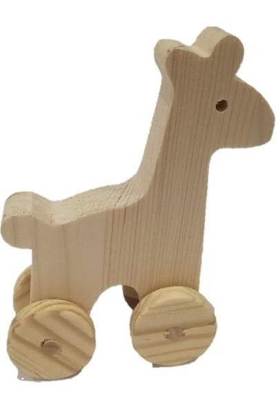 Filiz Ahşap Oyuncak Ahşap Zürafa