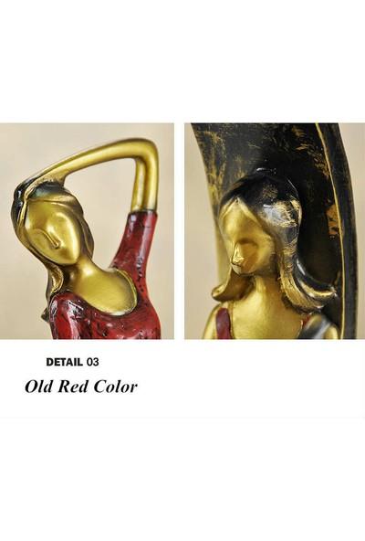 Sibaolu Retro Dekoratif Kız Figürleri Ev Dekorasyonu - Kombinasyon