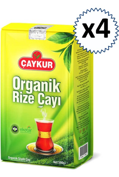 Çaykur Organik Rize Çayı 500 gr 4'lü