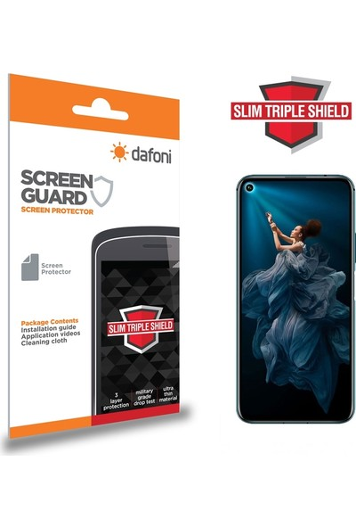 Dafoni Honor 20 Slim Triple Shield Ekran Koruyucu