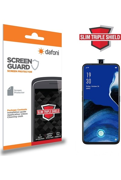 Dafoni Oppo Reno2 Z Slim Triple Shield Ekran Koruyucu