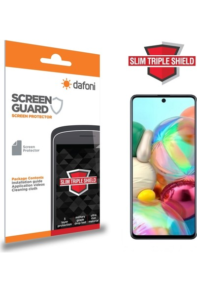 Dafoni Samsung Galaxy A71 Slim Triple Shield Ekran Koruyucu