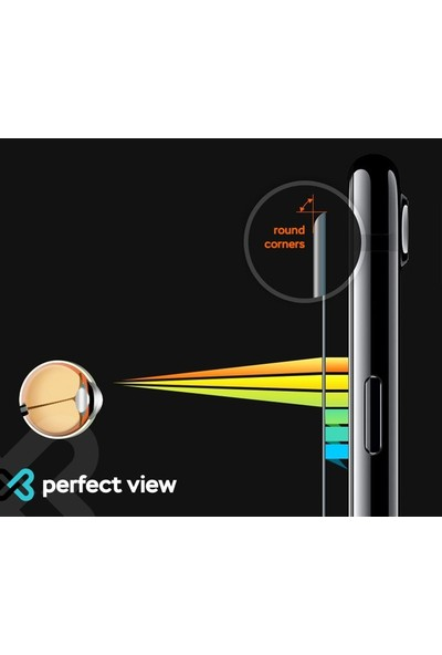 Eiroo Alcatel 3X 2019 Tempered Glass Cam Ekran Koruyucu